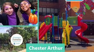 philadelphia family presents chester arthur school with newman