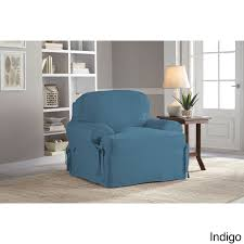 turquoise chair slipcover chair covers slipcovers for less overstock com