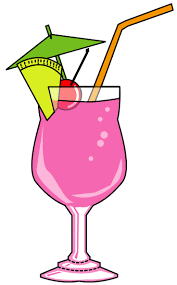 margarita glass cartoon pink martini clipart clip art library