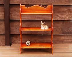vintage wooden wall wood wall shelf etsy