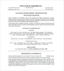 resume senior database developer resume sample administrator