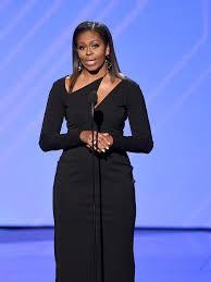 does michelle obama wear hair pieces michelle obama wears cushnie et ochs dress to the 2017 espy awards