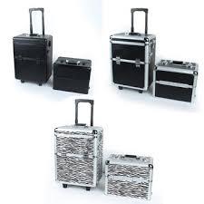 Vanity Box Pro 2in1 Aluminum Lockable Wheeled Makeup Cosmetic Box Vanity Case