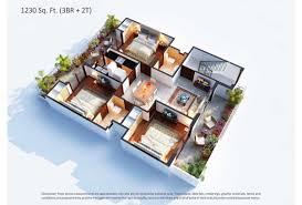 3bhk House Plans Central Park 3 Floor Plan Flower Valley Gurgaon Sohna Road