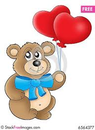 teddy bears in balloons teddy with heart balloons free stock images photos