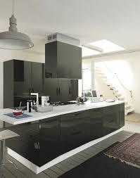 hotte ilot cuisine cuisines cuisine contemporaine meubles hotte noir hotte îlot