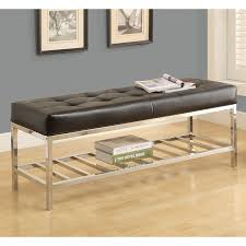 Tufted Banquette Bench Decor Amazing Leather Banquette Seating With Polished Chrome Legs