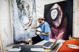 how to write an art history paper what are the seven elements of art artist painting in his studio