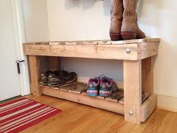 decorations pallet diy shoe bench with simple handmade furniture
