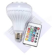 bluetooth music light bulb e27 led rgb bluetooth speaker bulb wireless 12w power music playing