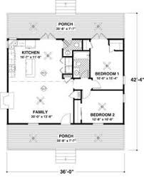 floor plans for small cabins log home plan 74102 total living area 744 sq ft 2 bedrooms