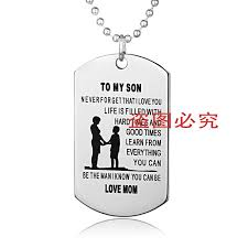 Personalized Dog Tag Necklaces Aliexpress Com Buy Personalized Dog Tags Mother Son Pendant