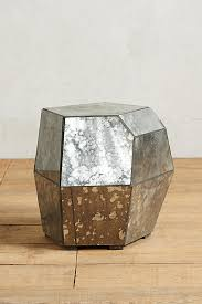 Mirrored Side Table Faceted Mirror Side Table Anthropologie