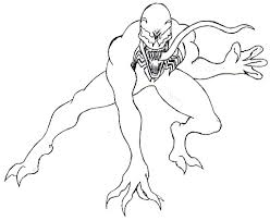printable venom coloring pages inside creativemove me