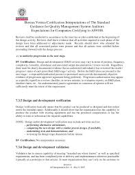 bureau veritas reviews as9100 interpretations