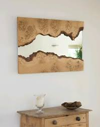 wood framed mirrors sleek and stylish in decors