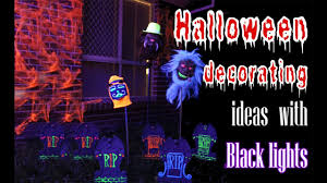 halloween decorations with black lights youtube