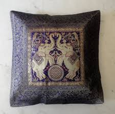 decor traditional ethnic indian elephant pillow for home