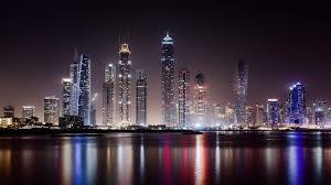 dubai at night from business bay wallpaper wallpaper studio 10