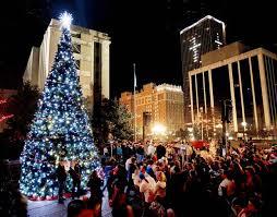 automobile alley christmas lights sandridge christmas tree lighting festival friday in downtown okc