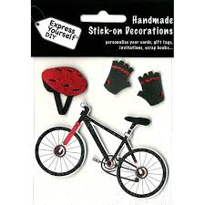 bicycle cake topper diy express yourself diy bicycle helmet and gloves toppers