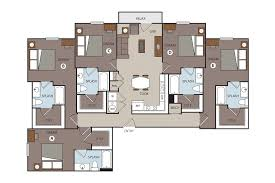 Five Bedroom House Plans by Prado Student Living Floor Plans Studio 1 2 3 4 5 Bedroom