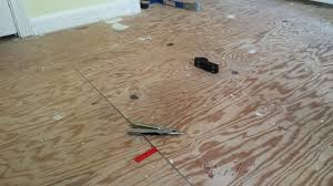 Subfloor For Laminate Flooring How To Fix Plywood Subfloor Joint That Is Off By 1 8