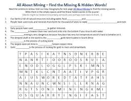 image of mining worksheet free downloadable geography for