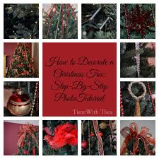 how to decorate a christmas tree step by step photo tutorial