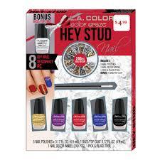 l a colors hey stud 8 pcs d i y nail design kit gift set