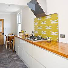 wallpaper kitchen backsplash diy splashback wallpaper pillar box blue