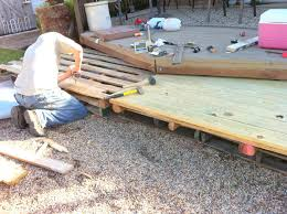 How To Make A Platform Bed Frame With Pallets by Remodelaholic Build A Wooden Pallet Deck For Under 300