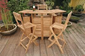 Wooden Outdoor Sofa Sets Amazon Com Outdoor Folding Home Bar Set With 4 Stools Garden