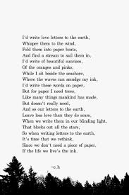 so when writing letters to the earth it u0027s time we rethink since