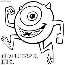 monster coloring pages boo monster coloring