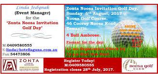 zonta noosa invitation golf day register today zonta