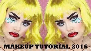 Halloween Makeup Comic Glittery Pop Art Comic Book Makeup Tutorial 2016 Makeup