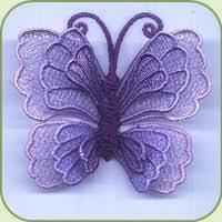 sd012 3d fsl butterfly 2 embroidery butterfly 3d