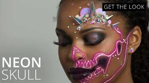 neon skull halloween makeup tutorial feelunique youtube