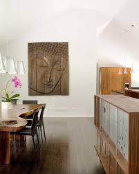 kansas city wood slab dining room modern with wall decor mahogany