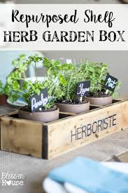 repurposed shelf herb garden box summer celebration