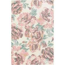 Pink Area Rug Rectangle Watercolor Pink Area Rugs Rugs The Home Depot