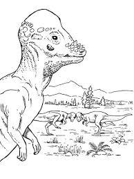pachycephalosaurus dinosaur coloring free printable