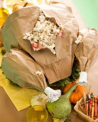 bags for turkey paper bag turkey thanksgiving table popcorn and thanksgiving