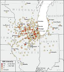 Northern Illinois Map by A Reevaluation Of The Intensities Of The Northern Illinois