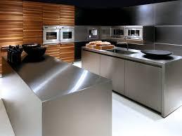 kitchen clear rectangle plain stainless steel kitchen island