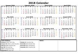 printable 2018 calendar with holidays archives printable office
