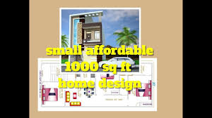 Home Design Floor Plan Small Affordable 1000 Sq Ft Home Design Floor Plan Elevation