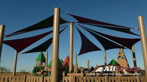 Sail Canopy Awning Playground Awnings Custom Shade Sails Structures In Phoenix