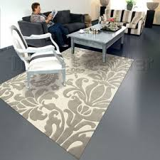 Damask Rugs Classic Clash Damask Rugs 5012 11 Cream Grey Amazon Co Uk